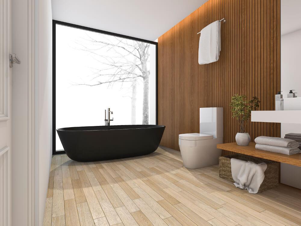 Les inspirations d'Atmosphère Bains Chauffage, plombier chauffagiste à Brest,installation de salle de bains scandinave